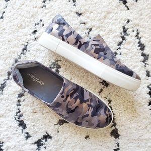J/Slides Metallic Camo Slip On Sneakers 11